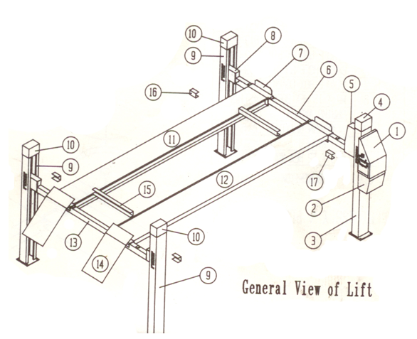 molnar 2 post hoist manual
