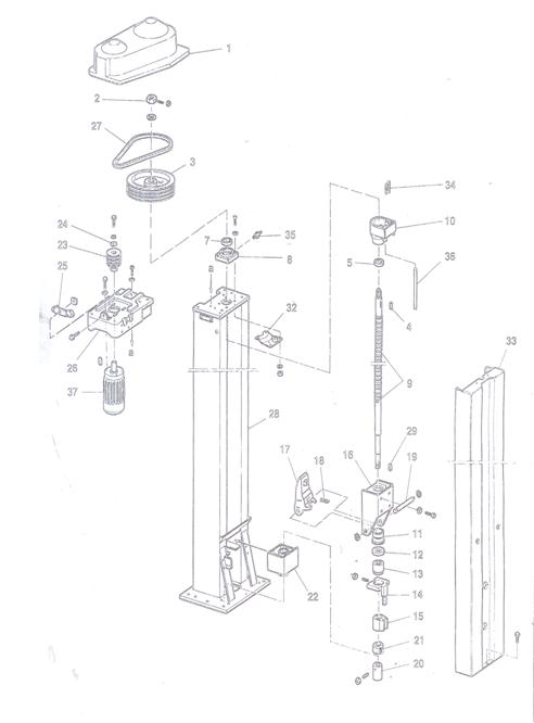 molnar 2 post hoist manual