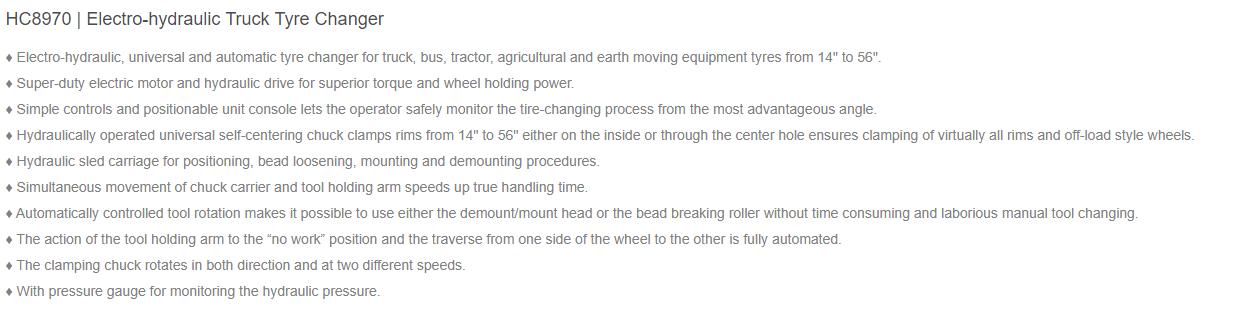 Hauvrex Truck Tyre Changers